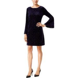 ECI NY Velvet Shift Dress
